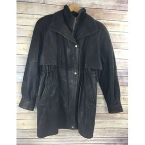 Vintage Wilsons Leather Car Coat Bomber Thinsulate